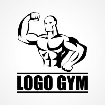 Poster Bodybuilder icona o simbolo