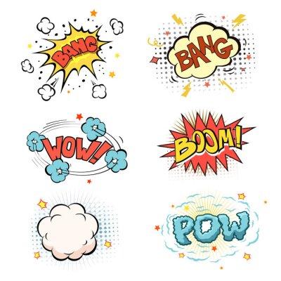 Poster Boom. Comic book set esplosione