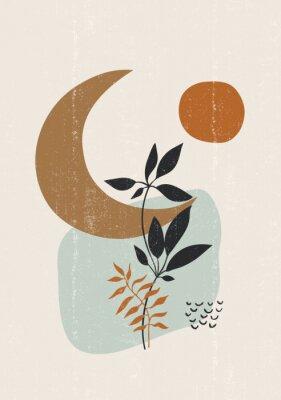 Poster Botanical print boho minimalist printable wall art