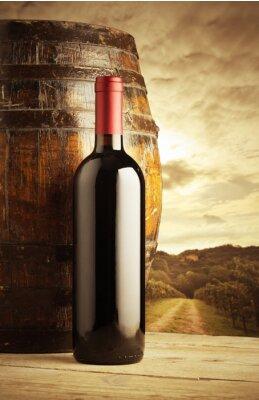 Poster bottiglia di vino rosso