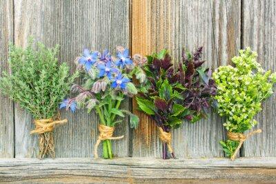 Poster bouquet di erbe