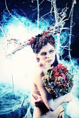 Poster bouquet invernale