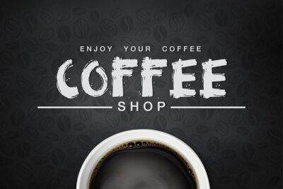 Poster caffè backgrond