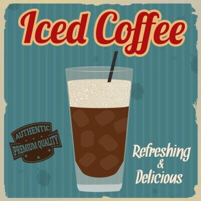Poster caffè freddo poster retrò