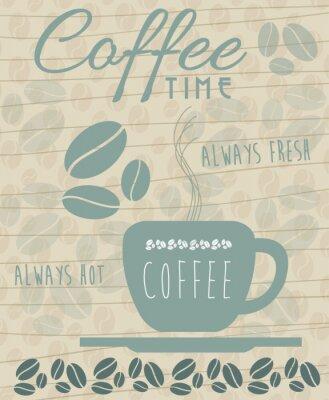 Poster caffè Icona