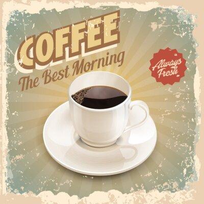Poster caffè retro