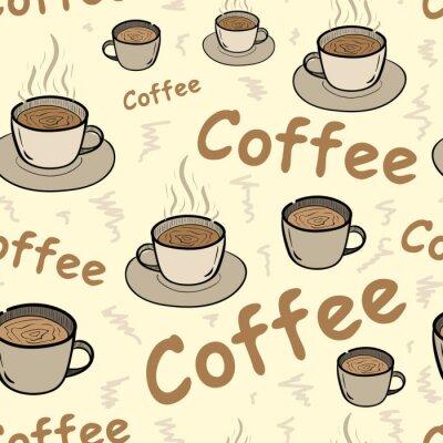 Poster caffè senza soluzione di continuità con il vapore