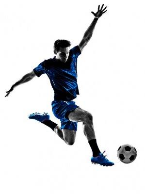 Poster calciatore italiano silhouette uomo