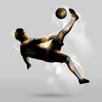 Poster calcio astratto calcio in testa