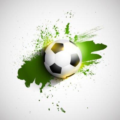 Poster Calcio Grunge / soccer ball background