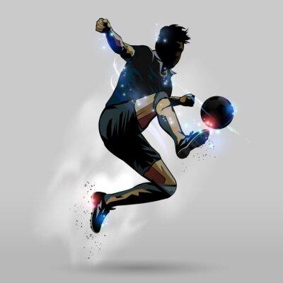 Poster Calcio salto tocco palla 02