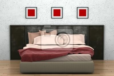 Camera da letto moderna con muro bianco manifesti da muro u2022 poster