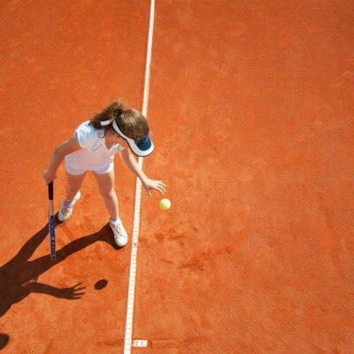 Poster campione di tennis poco prepara a servire