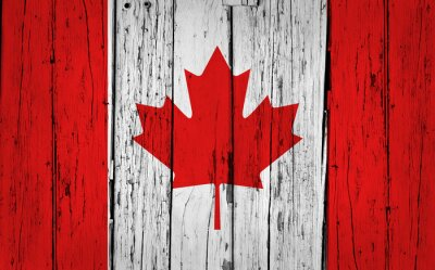 Poster Canada Flag Grunge Background
