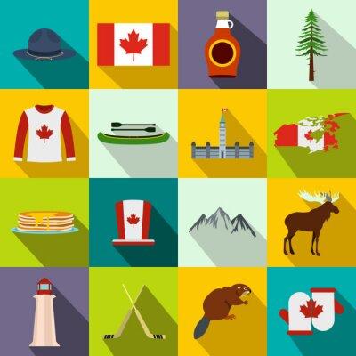 Poster Canada icone piane