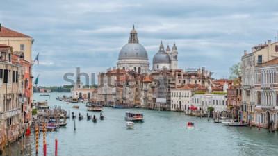 Poster Canal Grande e Basilica di Santa Maria della Salute, Venezia, Italia