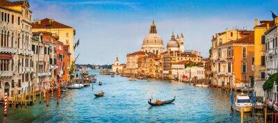 Poster Canal Grande panorama al tramonto, Venezia, Italia