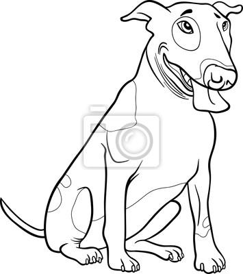 Cane Bull Terrier Per Libro Da Colorare Manifesti Da Muro Poster