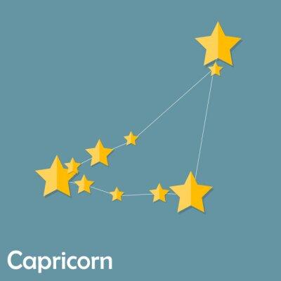 Poster Capricorno Segno zodiacale del Bello stelle luminose Vector Illus
