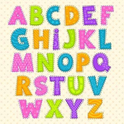 Poster Carino divertente alfabeto infantile