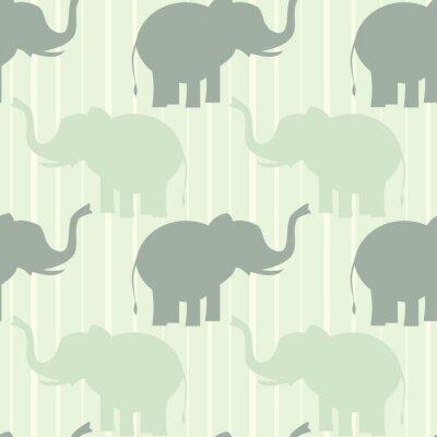 Poster carino pastello elefante vettore modello senza soluzione di continuità sfondo illustrazione