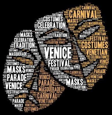 Poster Carnevale di Venezia in Italia, parola, nuvola