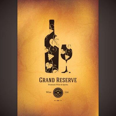 Poster Carta dei vini di progettazione