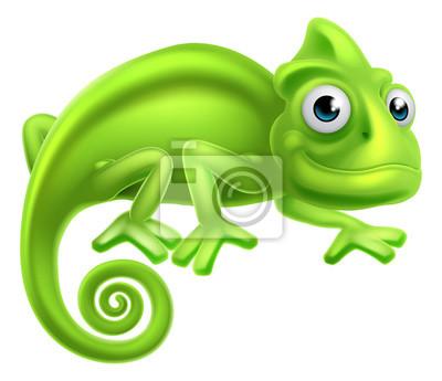 Poster Cartoon Chameleon