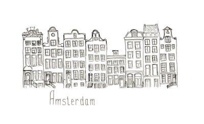 Poster case Sketch Paesi Bassi Amsterdam isolato lettering