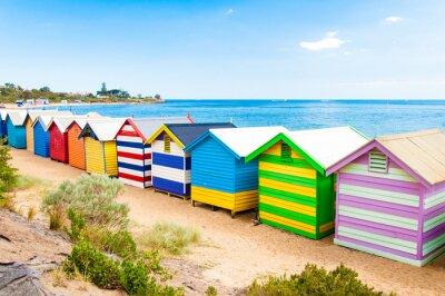 Poster Cassette di balneazione sulla spiaggia di Brighton, Australia