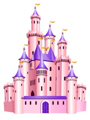 Poster castello rosa principessa.