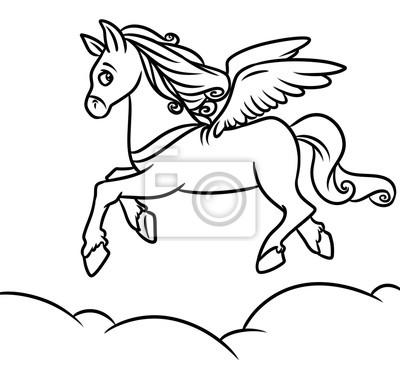 Cavallo Alato Pegaso Disegni Da Colorare Cartone Animato Manifesti