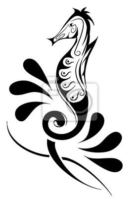 Cavalluccio Marino Decorato Tatuaggio Manifesti Da Muro Poster