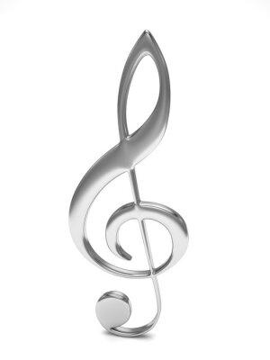 Poster chiave di violino 3d su bianco