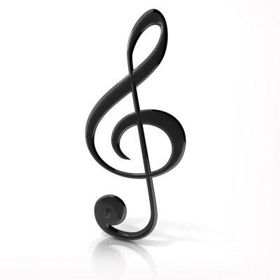 Poster Chiave di violino su sfondo bianco