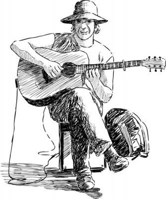 Poster chitarrista