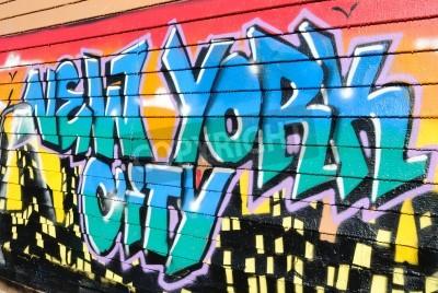 Poster Cinque Pointz, considerata una mecca graffito nel Queens di New York City, è uno spazio espositivo all'aperto con numerosi artists.October graffiti 7, 2010.