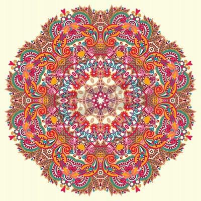 Poster Circle ornamento, merletto rotondo ornamentale