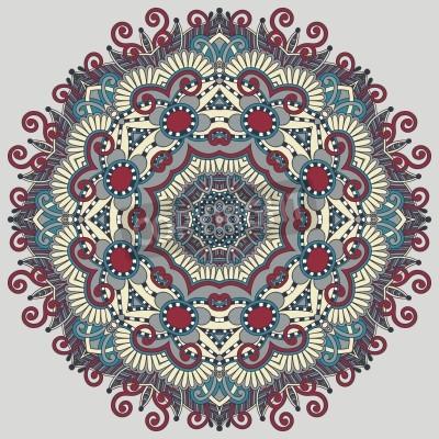 Poster Circle pizzo ornamentale, rotonda ornamento centrino geometrico