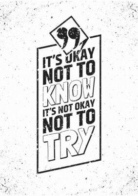 Poster citazione Inspirational in cornice su sfondo sgangherata. Illustrazione vettoriale.
