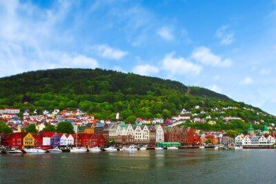 Poster Città di Bergen, Norvegia