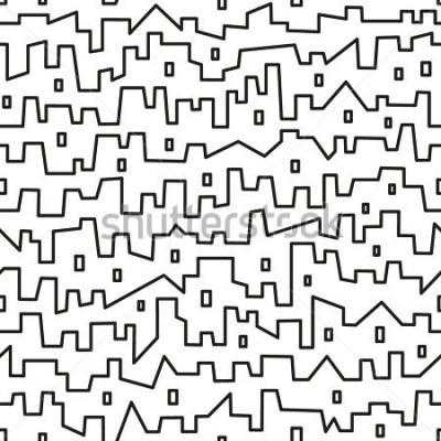 Poster città - modello vettoriale senza soluzione di continuità