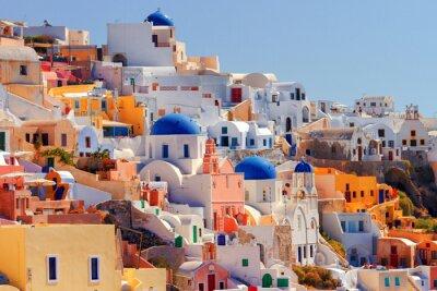Poster Cityscape Oia, Santorini