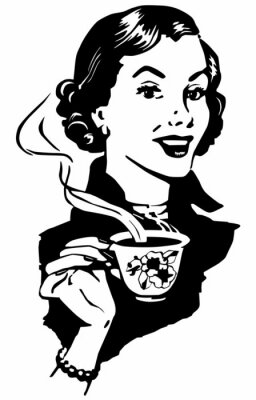 Poster Coffee Lady