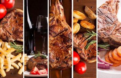Poster Collage di foto di carne alla griglia
