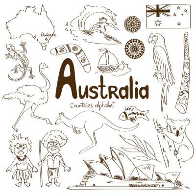 Poster Collezione di icone in Australia