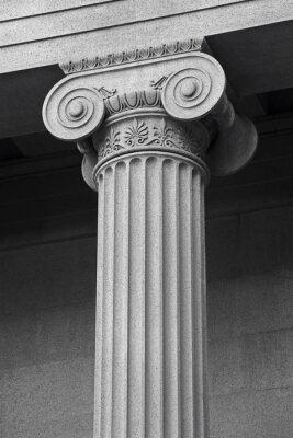 Poster colonna dettaglio architettonico e simbolismo