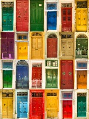 Poster colorate porte anteriori a case