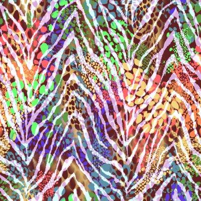 Poster colorato zebra texture sui punti ~ sfondo trasparente