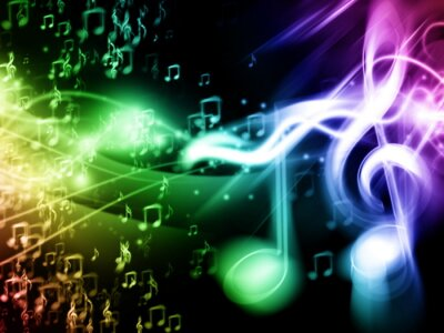 Poster Colore Music Background